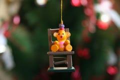 Primo piano di un ornamento di Natale Immagini Stock