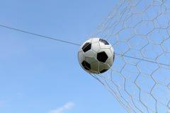 Primo piano di un pallone da calcio Immagini Stock Libere da Diritti