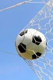 Primo piano di un pallone da calcio Immagine Stock