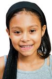 Primo piano di un sorridere della ragazza Fotografie Stock Libere da Diritti