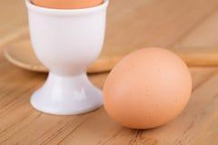 Primo piano di un uovo marrone Fotografie Stock Libere da Diritti