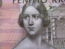 Primo piano di una banconota svedese fotografie stock libere da diritti
