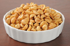Primo piano delle arachidi Fotografia Stock