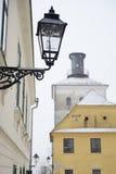 Primo piano di una lanterna del gas a Zagabria, Croazia Immagini Stock Libere da Diritti