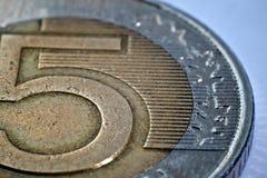 Primo piano di una moneta Immagini Stock