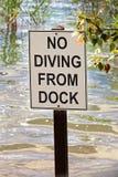 Primo piano di una nessun'immersione subacquea dal segno del bacino Fotografia Stock Libera da Diritti
