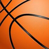 Primo piano di una pallacanestro. Fotografia Stock