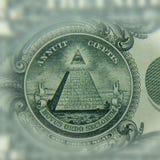 Primo piano di una parte del dollaro Il concetto del primo piano Immagini Stock