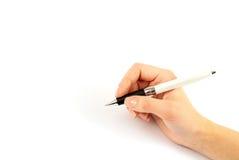 Primo piano di una scrittura della mano Fotografie Stock