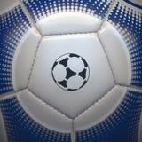 Primo piano di una sfera di calcio Fotografia Stock Libera da Diritti