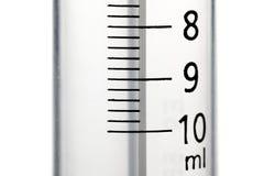 Primo piano di una siringa da 10 ml Immagini Stock