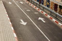 Primo piano di una strada Fotografia Stock Libera da Diritti