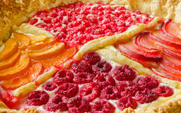 Primo piano di una torta di recente al forno della frutta Fotografia Stock
