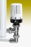 Valvola del termostato del radiatore Fotografie Stock Libere da Diritti