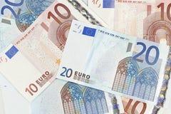 Valuta di zona euro Fotografia Stock