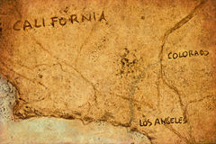 Vecchia mappa immagini stock libere da diritti