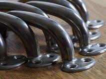 Primo piano di vecchie maniglie del metallo Immagini Stock Libere da Diritti