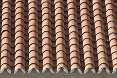 Primo piano di vecchie mattonelle di tetto Fotografie Stock