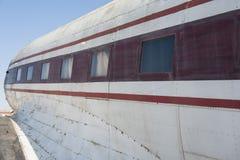 Primo piano di vecchio aereo Fotografia Stock Libera da Diritti