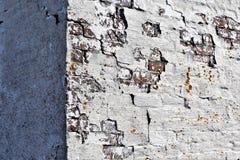Primo piano di vecchio angolo buillding stagionato al tintoriale Cove su capo Elizabeth, la contea di Cumberland, Maine, Nuova In fotografie stock