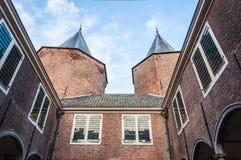 Primo piano di vecchio castello olandese Immagini Stock