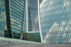 Primo piano di vetro dei grattacieli Fotografia Stock Libera da Diritti