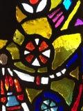 Primo piano di vetro macchiato Fotografie Stock