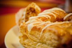 Primo piano dolce del panino Fotografia Stock Libera da Diritti