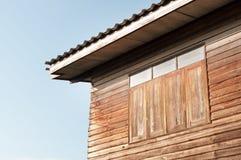 Primo piano domestico della finestra Fotografie Stock Libere da Diritti
