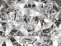 Primo piano e caleidoscopio di struttura del diamante Fotografia Stock Libera da Diritti