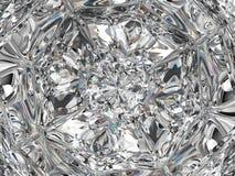 Primo piano e caleidoscopio estremi della struttura del diamante Fotografie Stock Libere da Diritti