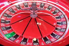 Primo piano elettronico della ruota di roulette del casinò Fotografie Stock Libere da Diritti