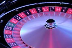 Primo piano elettronico della ruota di roulette del casinò Fotografie Stock