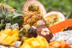 Primo piano esotico della frutta sopra Fotografia Stock Libera da Diritti