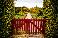 Primo piano europeo degli elementi del parco di bello autunno Immagini Stock