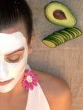 Primo piano facciale della mascherina Fotografie Stock