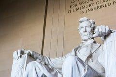 Primo piano famoso P del punto di riferimento di Abraham Lincoln Memorial Sitting Chair immagine stock