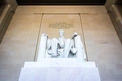 Primo piano famoso P del punto di riferimento di Abraham Lincoln Memorial Sitting Chair fotografia stock