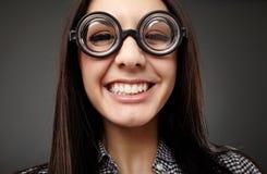 Primo piano femminile del nerd Fotografia Stock
