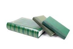 Primo piano foliant verde dei libri Fotografie Stock