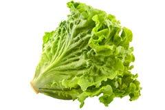 Primo piano fresco verde dell'insalata della lattuga isolato su bianco Fotografie Stock