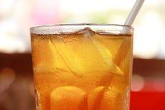 Primo piano ghiacciato del tè Fotografia Stock