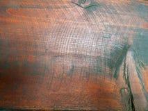 Primo piano incrinato del bordo di legno Fotografia Stock