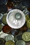 Primo piano insolito della moneta Fotografie Stock
