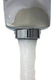 Primo piano isolato macro del colpetto di acqua Immagini Stock Libere da Diritti