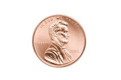 Primo piano isolato penny Fotografia Stock