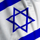 Primo piano israeliano della bandierina Immagine Stock
