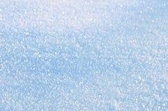 Primo piano lanuginoso della neve Immagine Stock