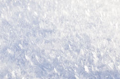 Primo piano lanuginoso della neve Fotografia Stock Libera da Diritti