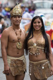 primo piano maschio e femminile dei ballerini nell'Ecuador Fotografie Stock Libere da Diritti